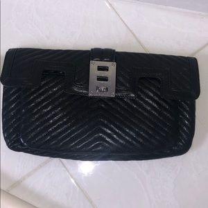 LAMB (brand) black leather clutch